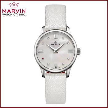 Reloj Análogo para Mujer Marvin Malton Blanco