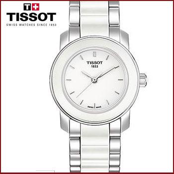 Reloj de Cerámica para Mujer Tissot Cera Dial Blanco