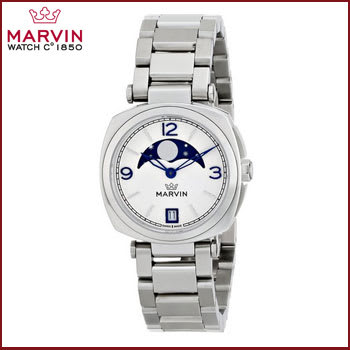 Reloj de Mujer Análogo Plateado Marvin