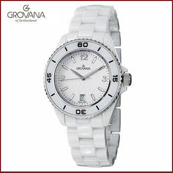 Reloj Grovana Dial Blanco con Cerámica para Mujer