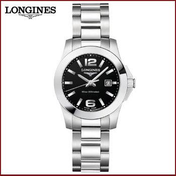Reloj para Mujer Longines Conquest de Acero Inoxidable Dial Negro