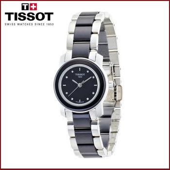 Reloj para Mujer Tissot Cera de Cerámica y Dial Negro